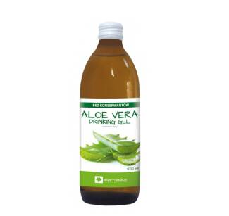 Sok Aloe Vera Drinking Gel, aloes z miąższem 500ml, Alter medica